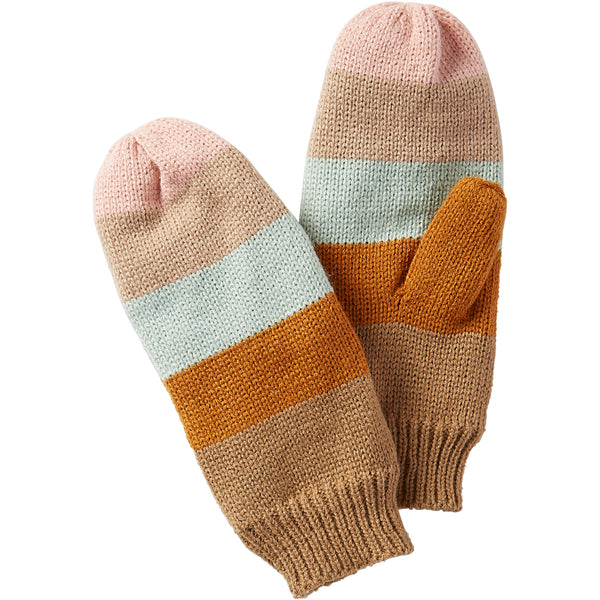 Stripe Mittens - Pastel - Tickled Pink Wholesale