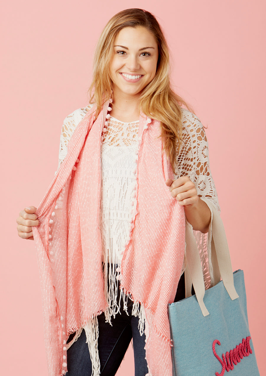 wholesale pom pom scarves