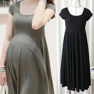 O-neck Maternity Dress