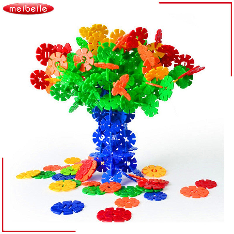 Snowflake Building Blocks Puzzle