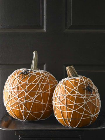 no carve pumpkin spider webs