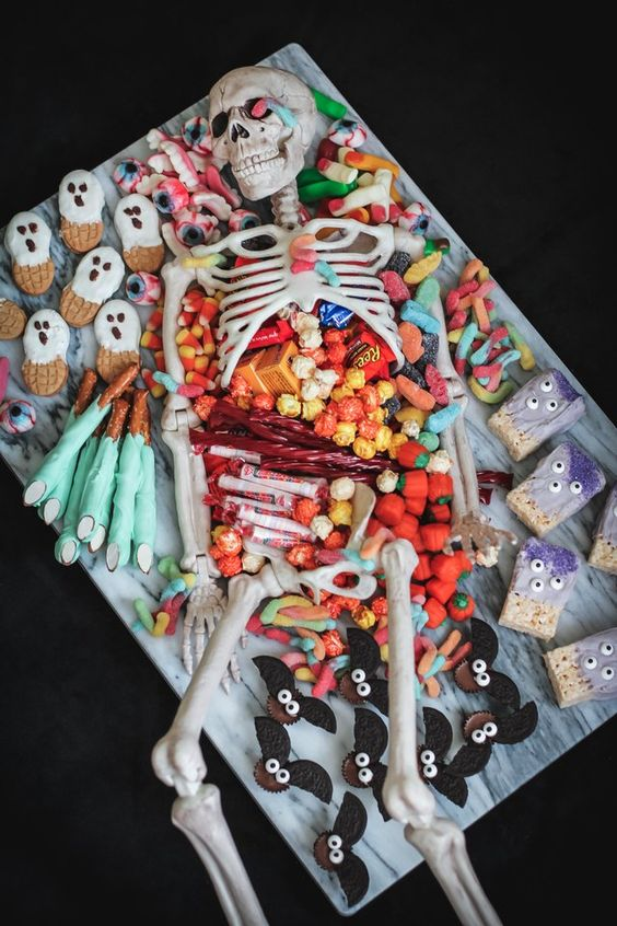 candy skeleton halloween party decorations