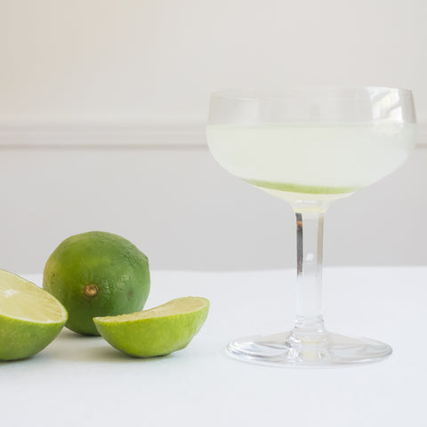 South Side Gin Cocktail served up in champagne coupe