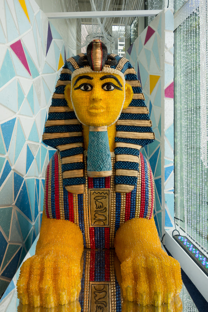 sphinx made of candy at candytopia
