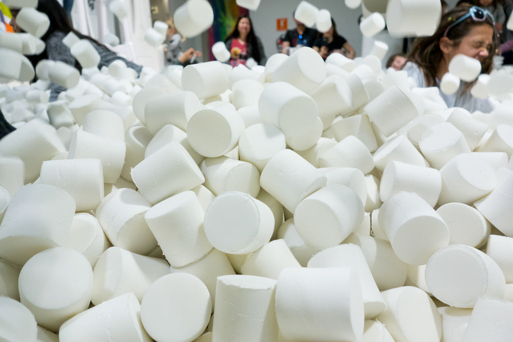 marshmallow pit at candytopia