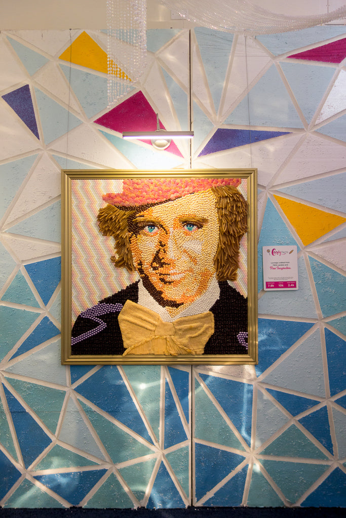 candy painting of gene wilder candytopia