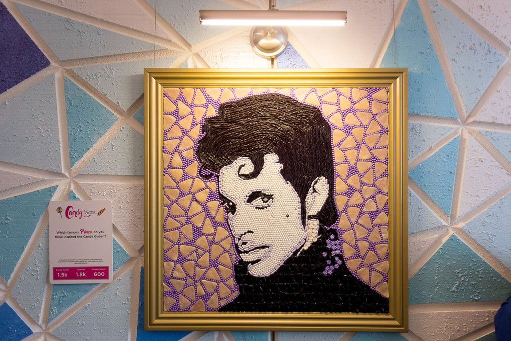 Prince painting made out of candy Candytopia