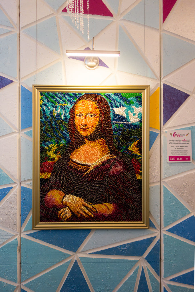 Mona Lisa candy painting candytopia