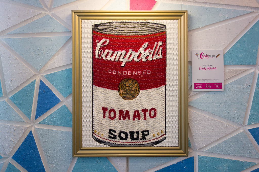 Andy Warhol Campbell soup can candy painting candytopia