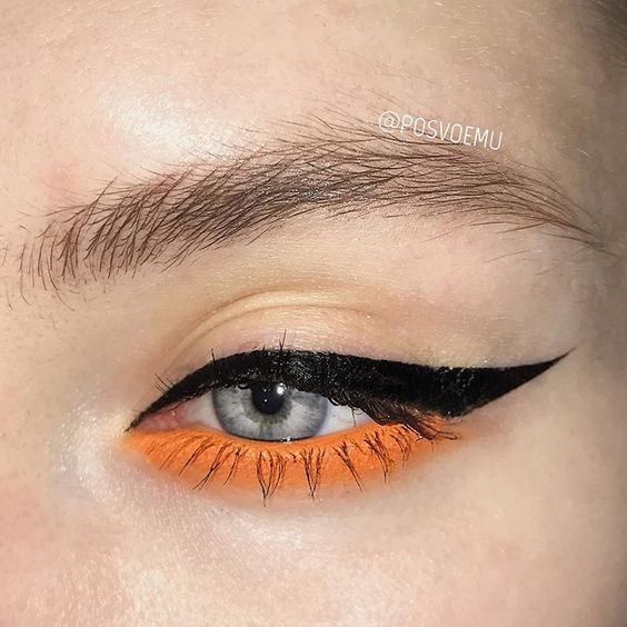 orange and black halloween eye liner