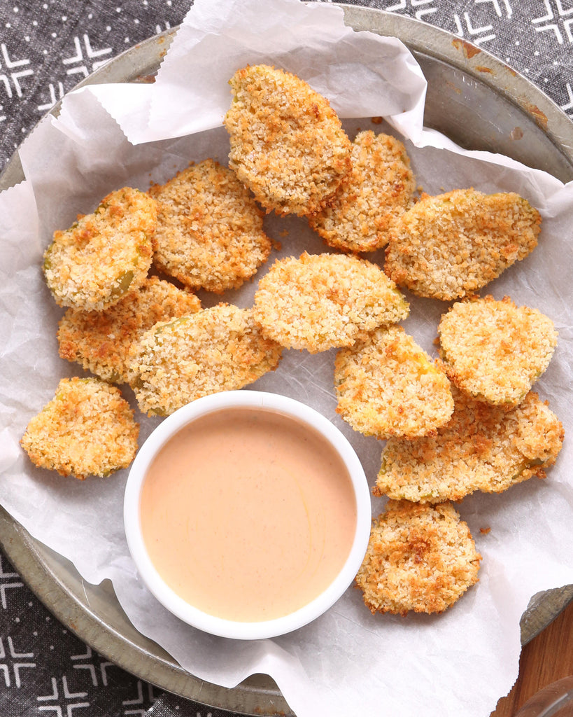Air Fryer Panko Crusted Pickle Chips