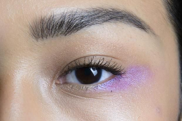lavender eye shadow look