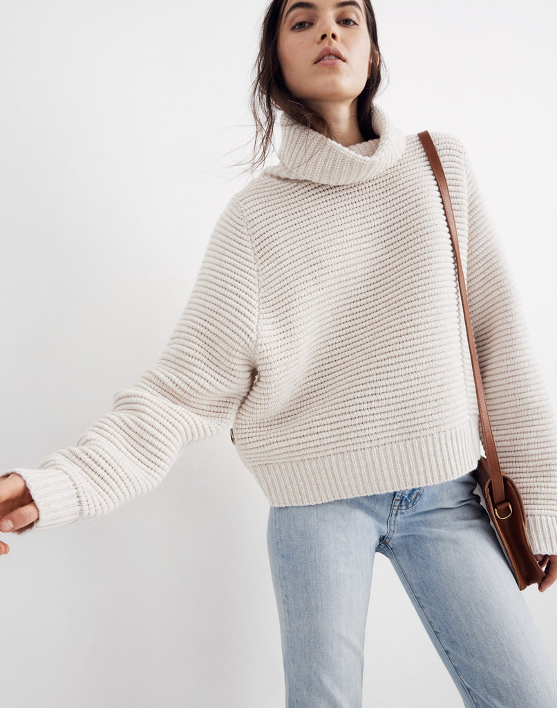 Madewell white turtleneck sweater