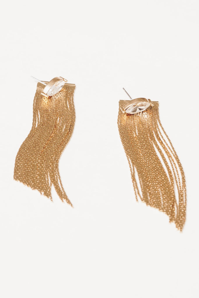 crystal marquis fringe ear jackets
