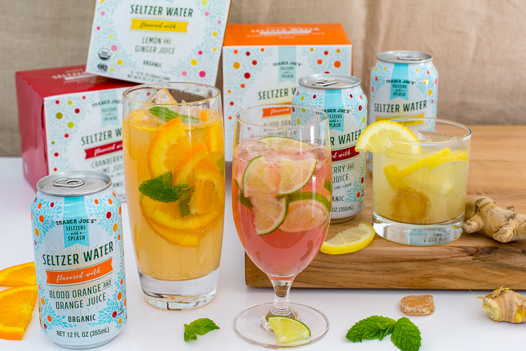 trader joes flavored seltzer water with fruit