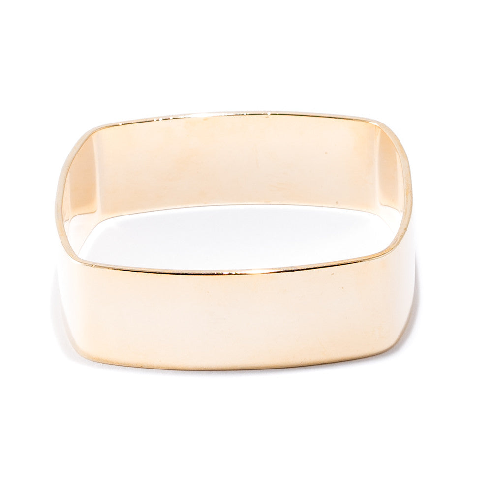 gold square bangle bracelet