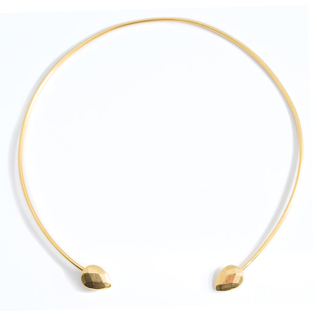 janna Conner gold teardrop choker necklace