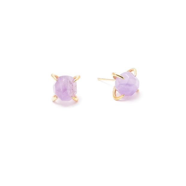 amethyst claw prong set stud earrings by janna conner