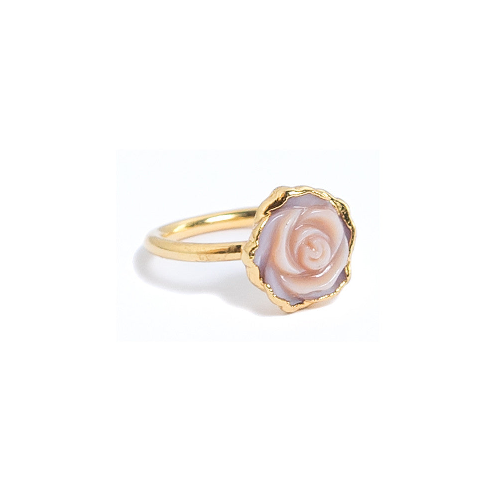 janna Conner jewelry pink mother of pearl rosette ring