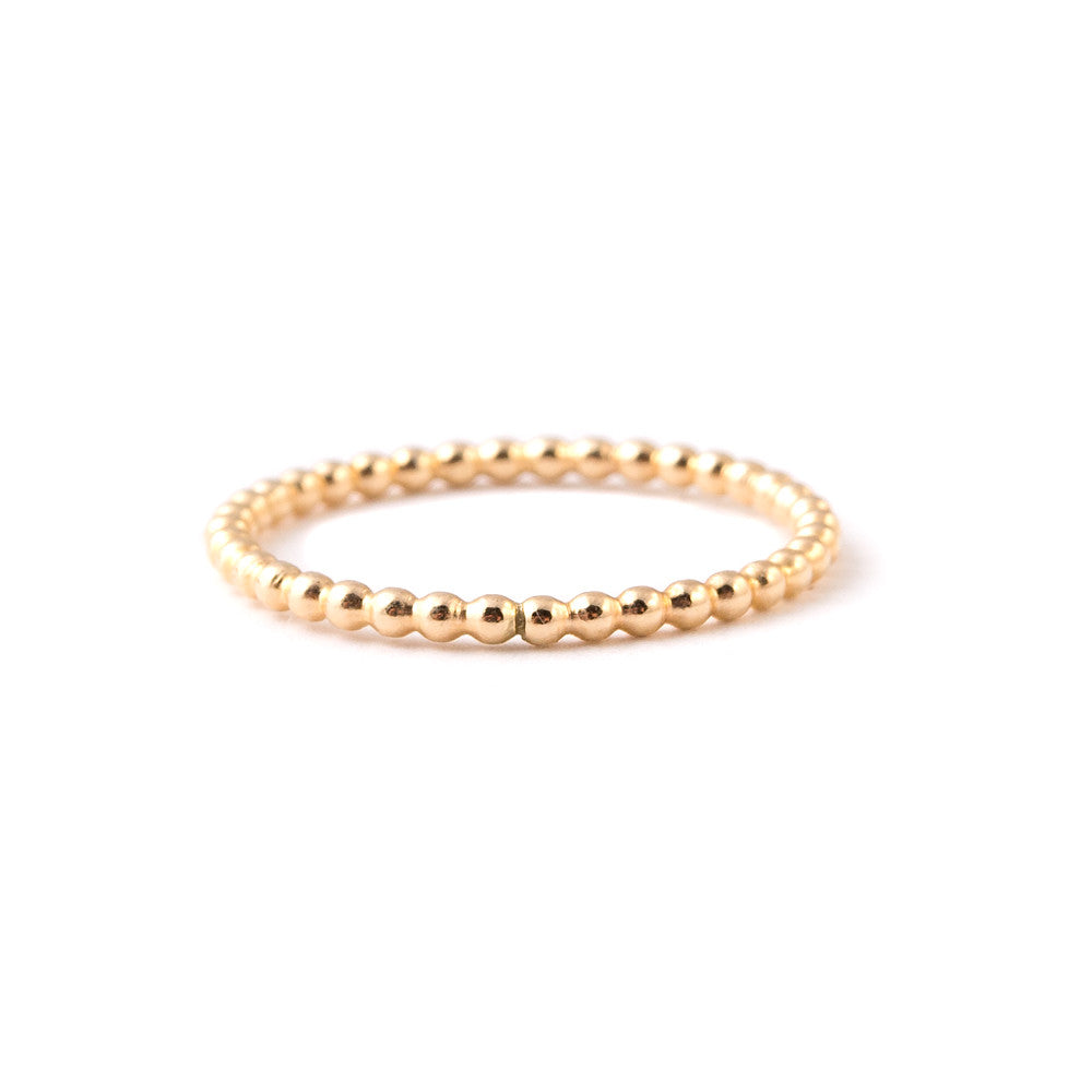 gold infinity stacking ring