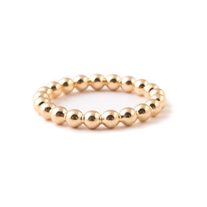 gold ball minimal stacking ring band