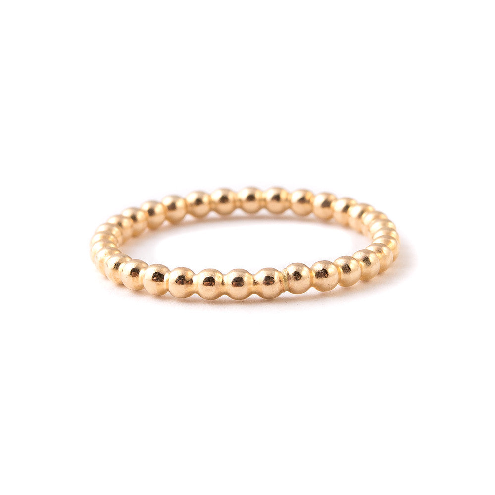 gold minimal stacking ring band