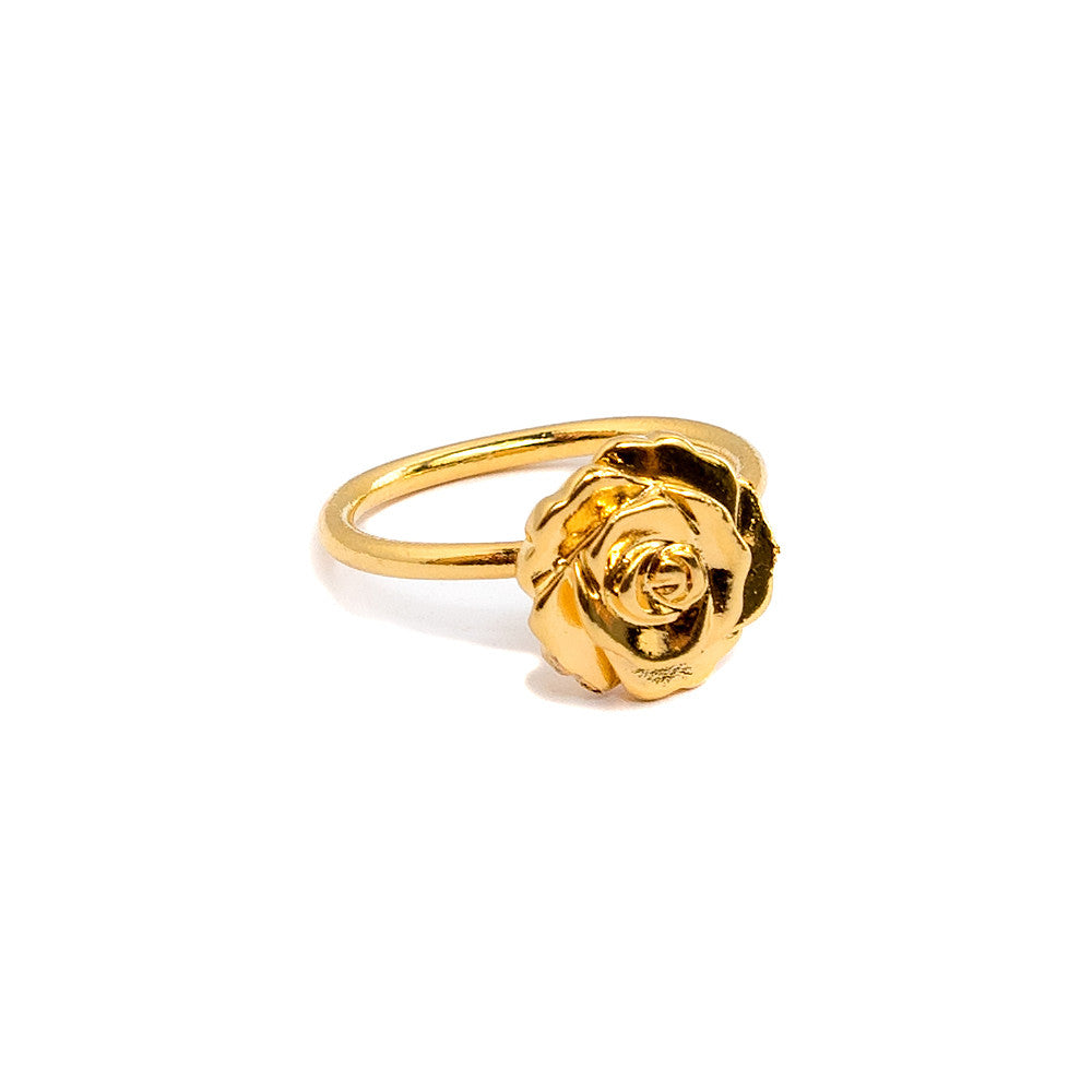 janna Conner jewelry  gold plate carved rosette ring