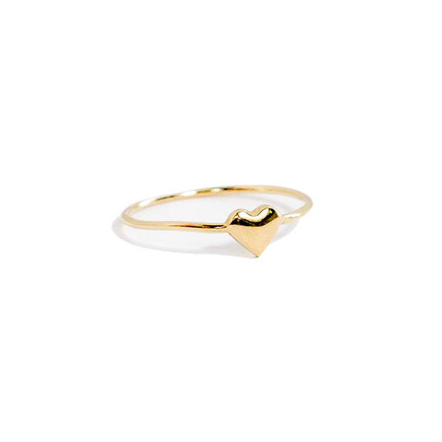 gold heart stacking ring by Janna Conner