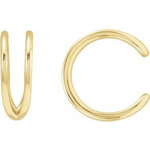 Gold Negative Space Ear Cuff | 14k Gold | Janna Conner