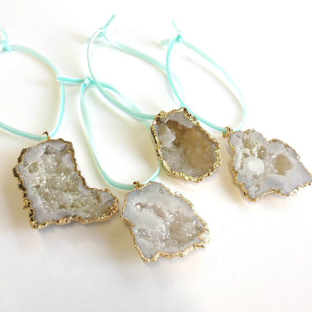 Crystal Druzy Ornament