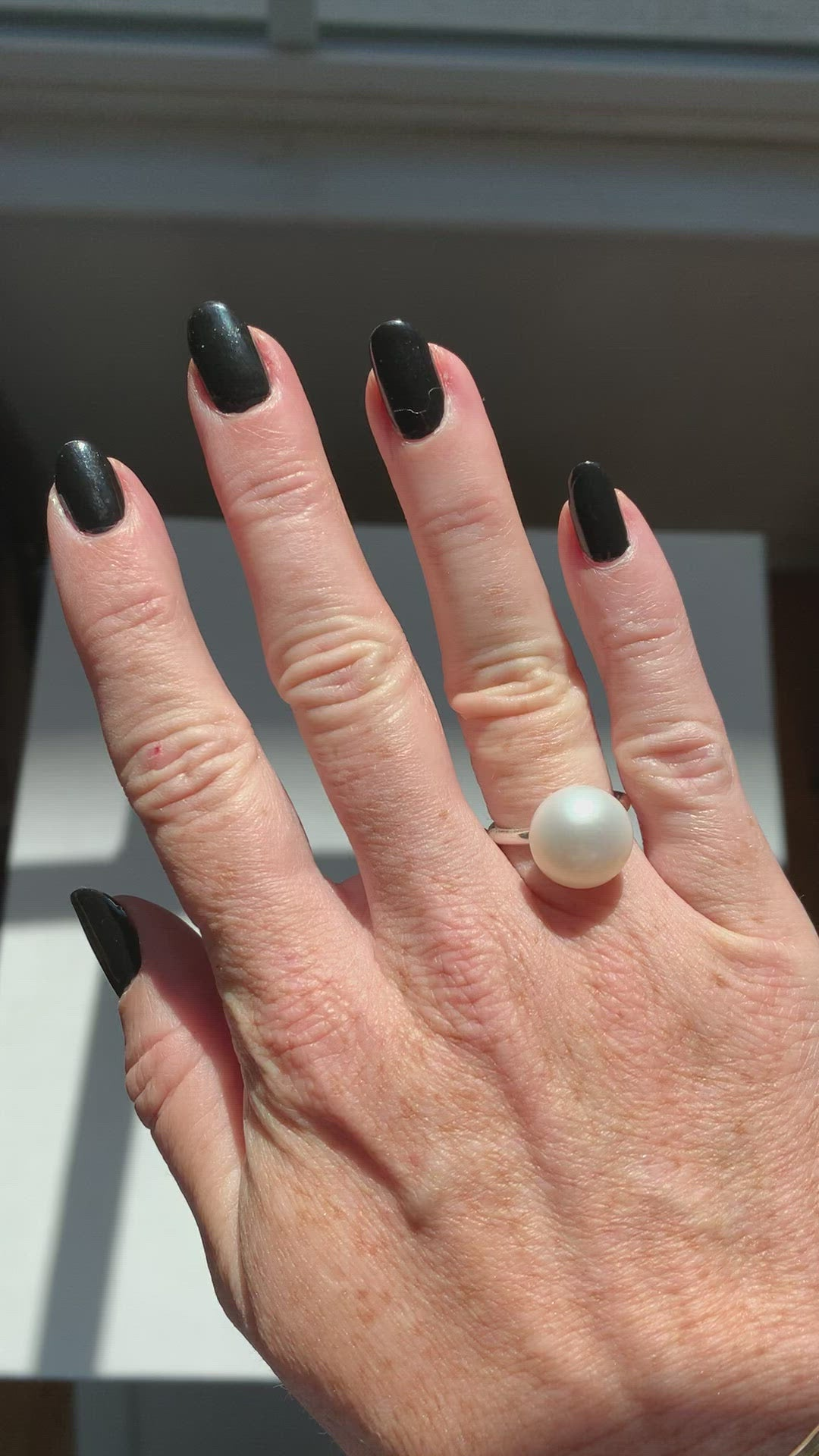 Pearl Lollipop Ring | .925 Silver | Janna Conner