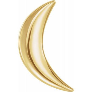 14k gold crescent moon earring