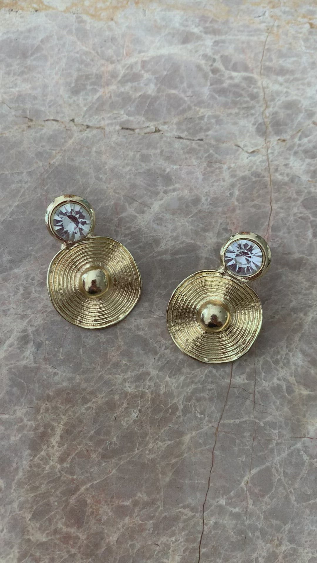 Everley Earrings | Crystal | 18k Gold Plating | Janna Conner