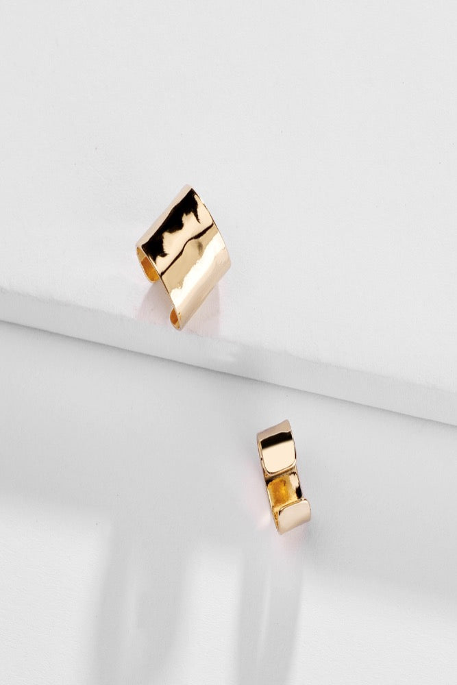 gold ear cuff earrings
