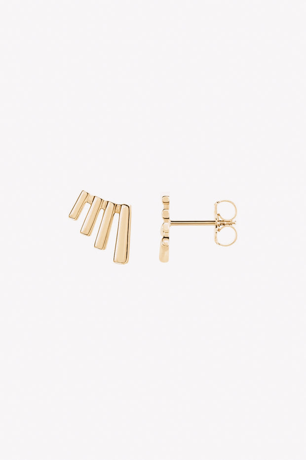 Yellow Fan Ear Climbers | 14K Gold | Janna Conner