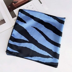 blue animal print scarf