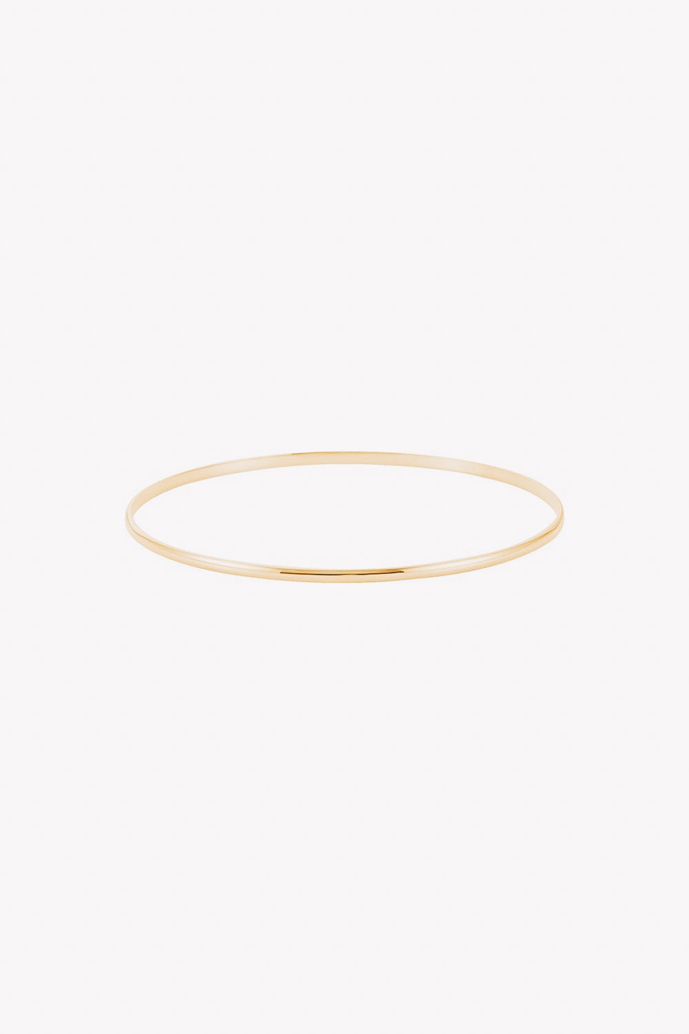 2 mm Half Round Bangle | 14K Gold | Janna Conner