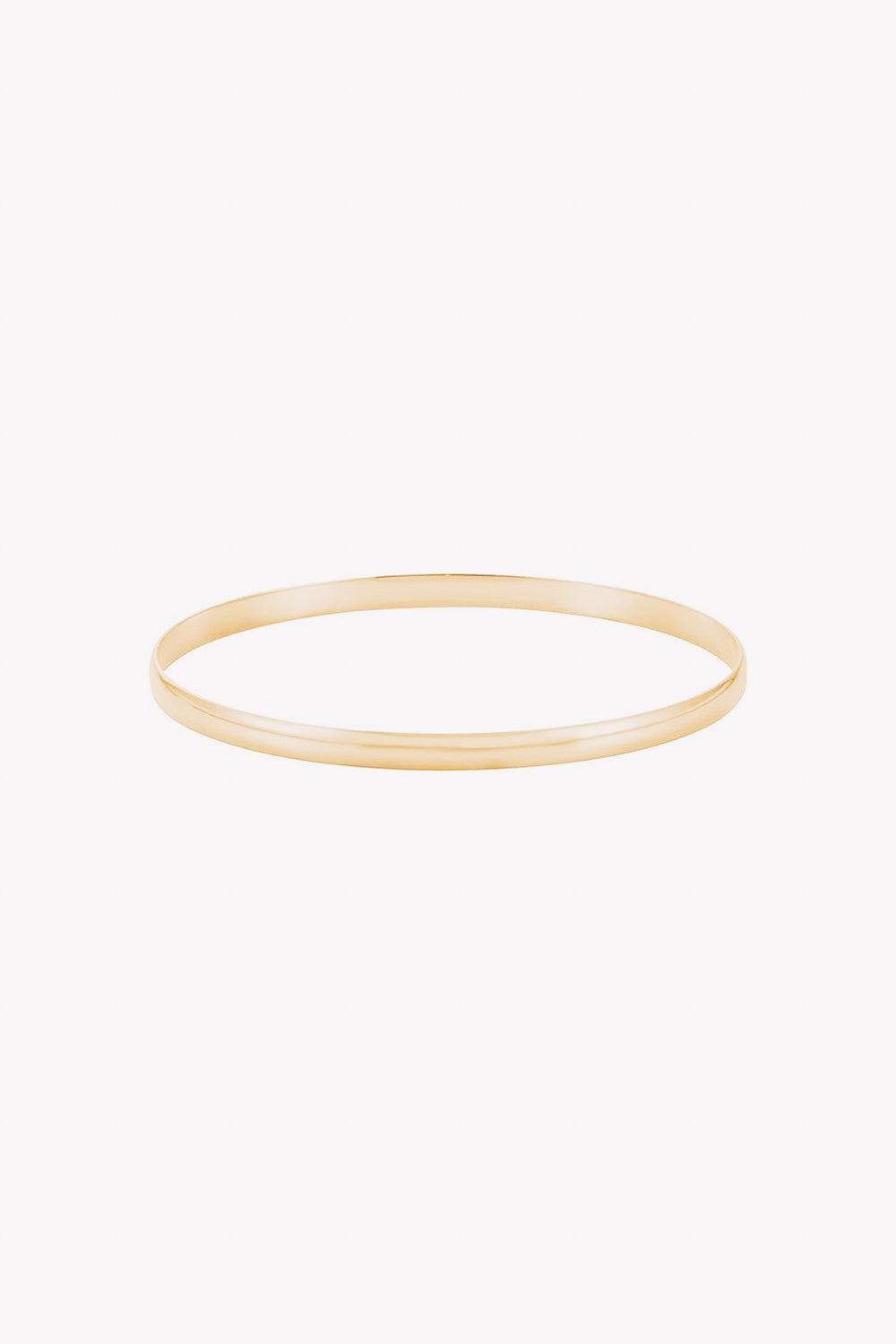 4 mm Half Round Bangle | 14K Gold | Janna Conner