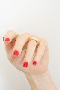 gold dome ring on model