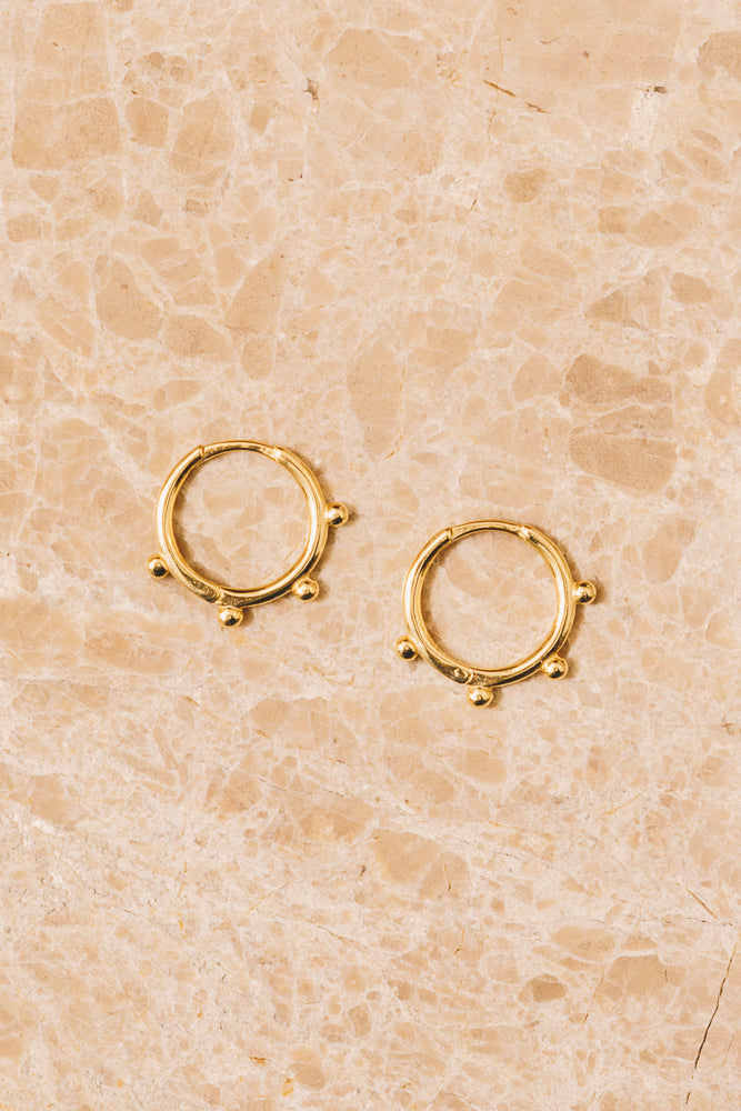 gold huggie hoop earrings