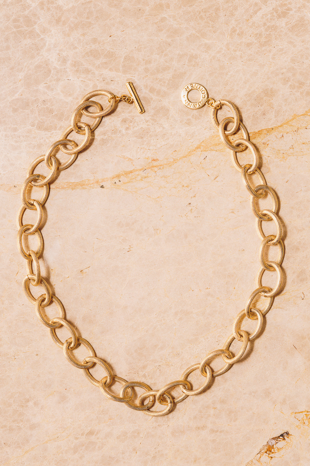large gold rope chain necklace