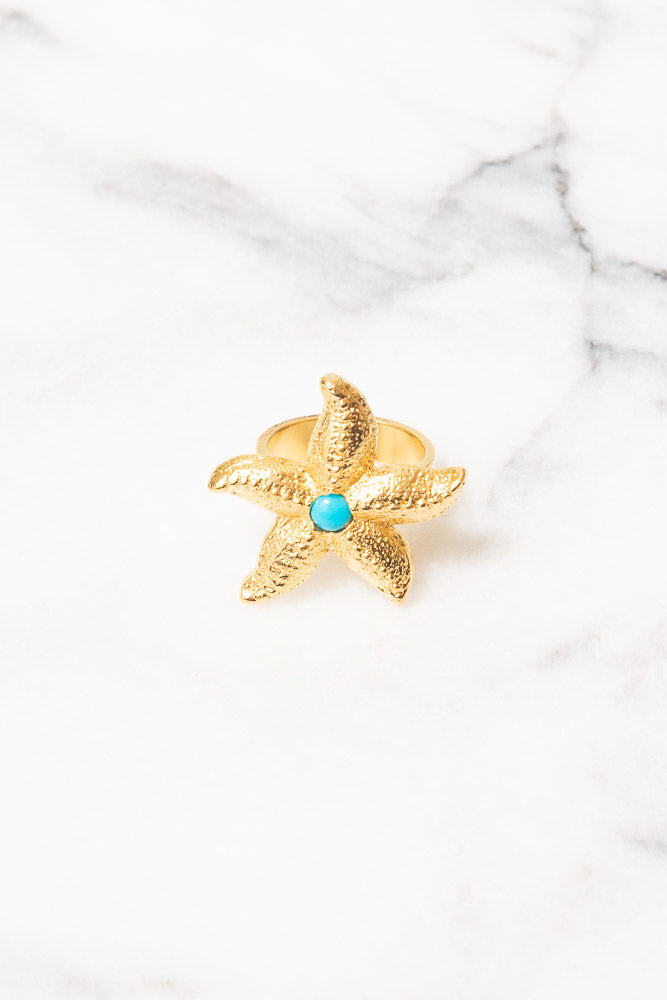 gold starfish tq ring
