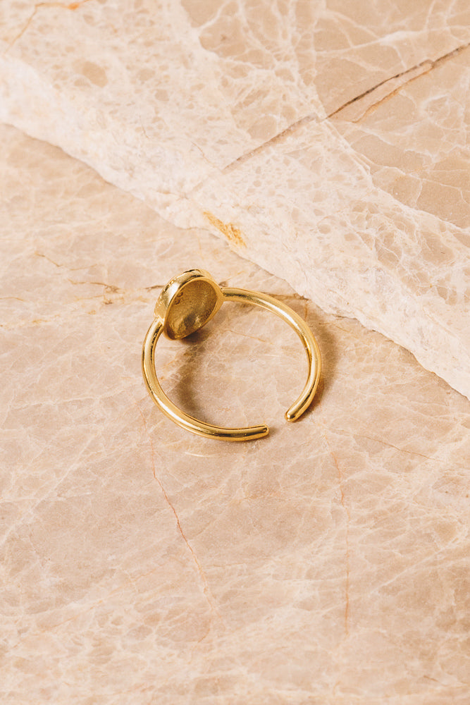 gold signet ring adjustable