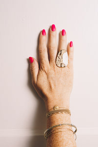 picture jasper statement ring on hand