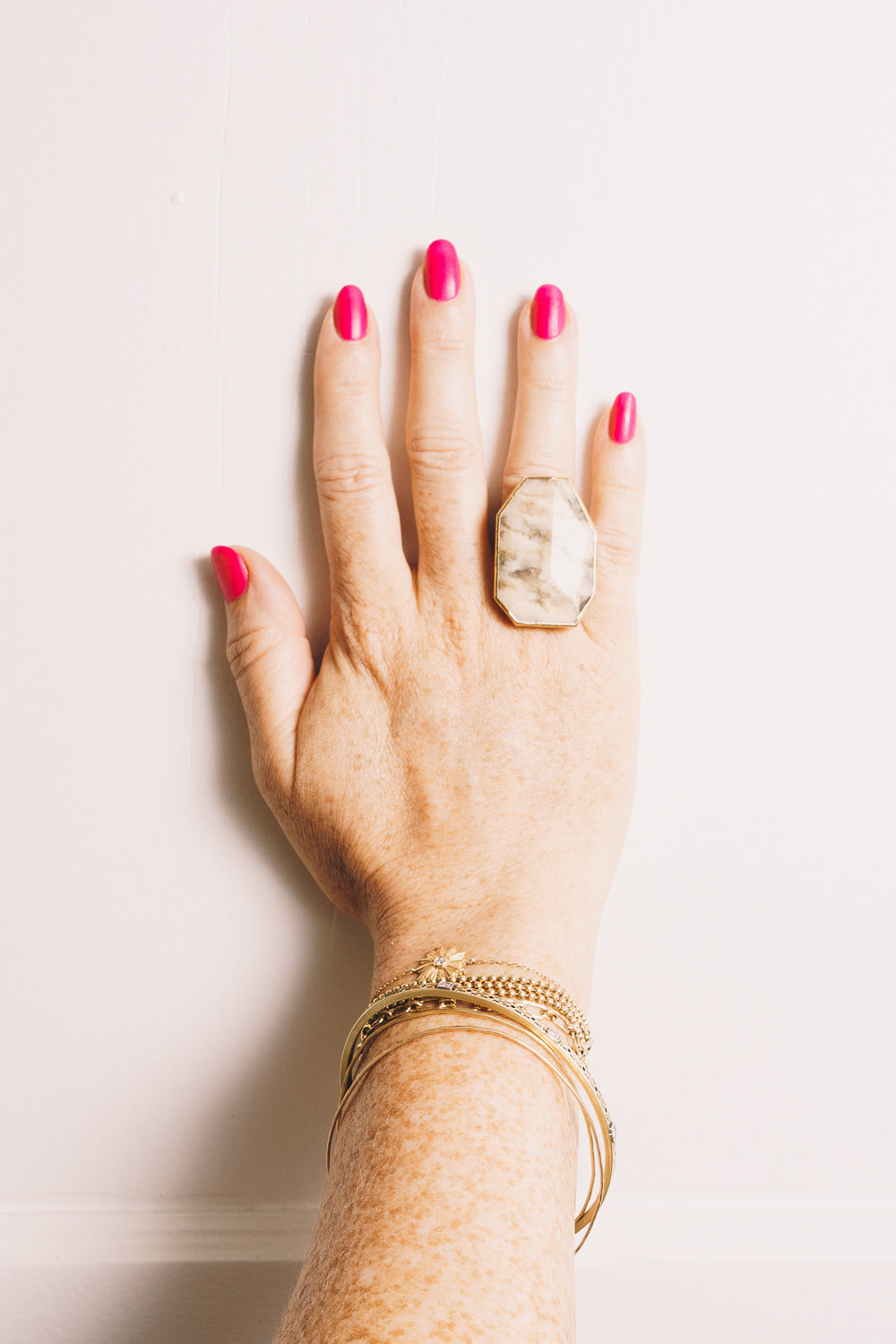 Picture Jasper Statement Ring | 18k Gold Plate | Janna Conner
