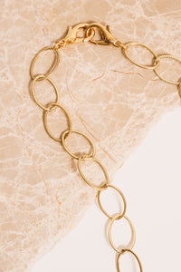 14k goldfill rope chain necklace clasp closeup
