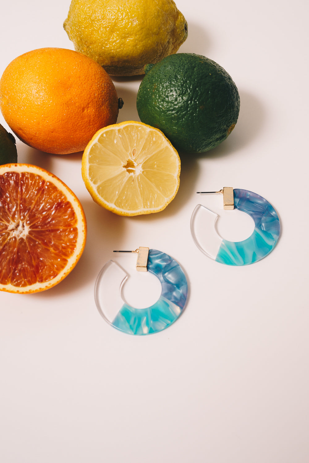 Hadley Hoop Earrings | Blue Multi Acrylic | Janna Conner