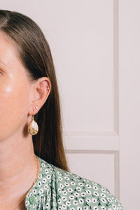 picture jasper teardrop earrings on model