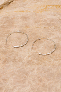 silver bamboo hoops side view