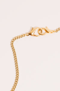 gold lobster clasp close up